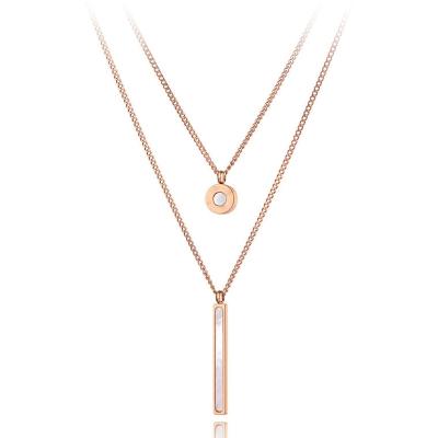 Dvojitý ocelový náhrdelník Sara - chirurgická ocel