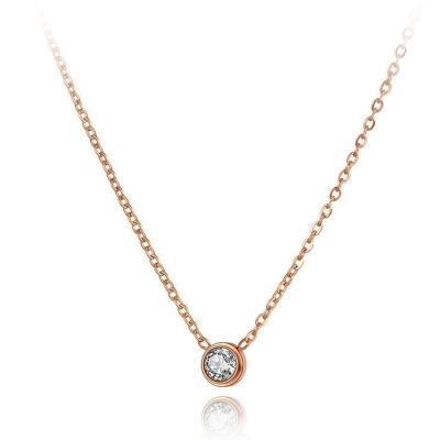 Ocelový náhrdelník Louise - chirurgická ocel, zirkon