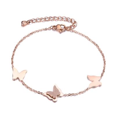 Ocelový  náramek  Nicole - motýl