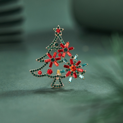 Vánoční brož Swarovski Elements Benecia - vánoční stromeček