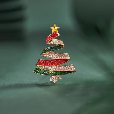 Vánoční brož Swarovski Elements Arnoita - vánoční stromeček