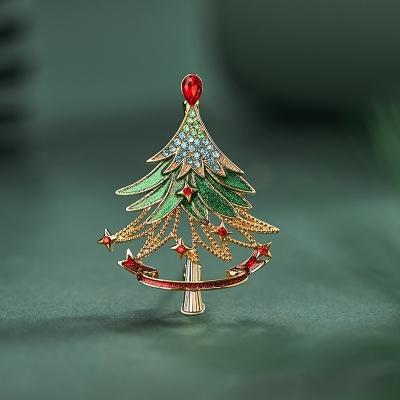 Vánoční brož Swarovski Elements Fionnita - vánoční stromeček