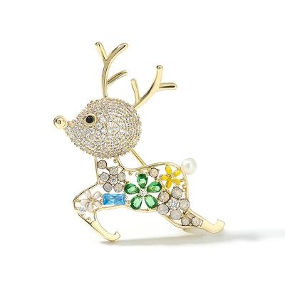 Vánoční brož Swarovski Elements Rudolf 4 - vánoční sob