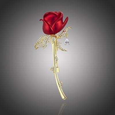 Exkluzivní brož Swarovski Elements Bethany - růže