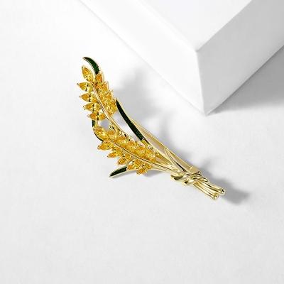 Exkluzivní brož Swarovski Elements Sarah - design pšenice
