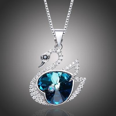 Exkluzivní náhrdelník Swarovski Elements Kelly - labuť, srdce