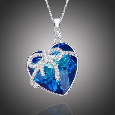 Exkluzivní náhrdelník Swarovski Elements Eternal Love - srdíčko