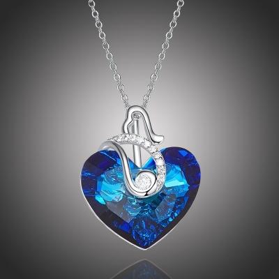 Exkluzivní náhrdelník Swarovski Elements Courtney Blue - srdce