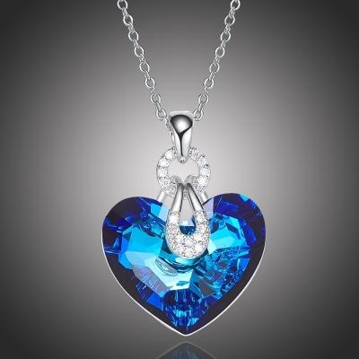 Exkluzivní náhrdelník Swarovski Elements Katherine Blue - srdce