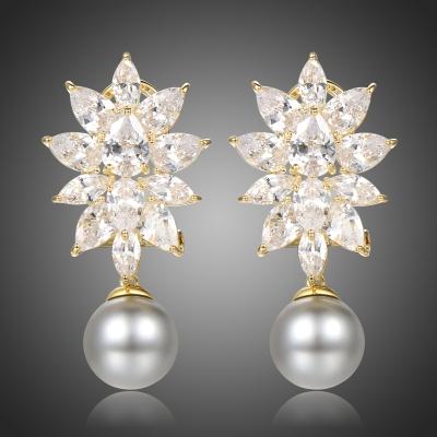 Náušnice Swarovski Elements Sasha - perla