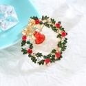 Vánoční brož Swarovski Elements Guirlande - vánoční věnec