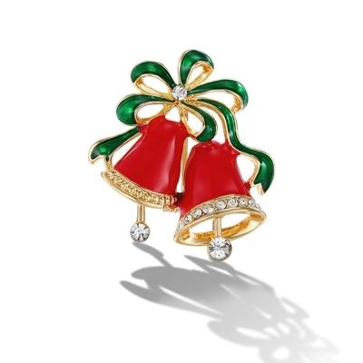 Vánoční brož se zirkony Campana de Navidad - vánoční zvonek