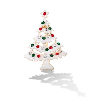 Vánoční brož se zirkony Christmas Tree 1 - vánoční stromeček