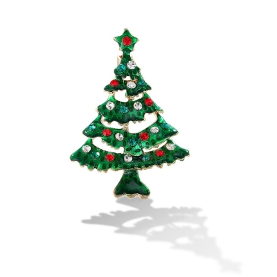 Vánoční brož se zirkony Christmas Tree 2 - vánoční stromeček
