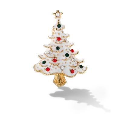 Vánoční brož se zirkony Christmas Tree 3 - vánoční stromeček