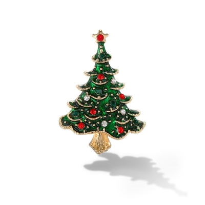 Vánoční brož se zirkony Christmas Tree 4 - vánoční stromeček