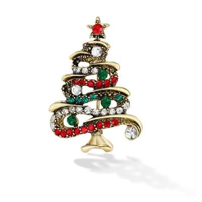 Vánoční brož se zirkony Christmas Tree 5 - vánoční stromeček