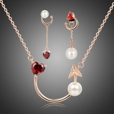 Souprava náhrdelníku a náušnic Swarovski Elements Jasmine