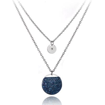 Ocelový náhrdelník se zirkony Jodie - chirurgická ocel