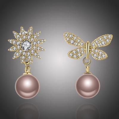 Náušnice s perlou a zirkony Melissa