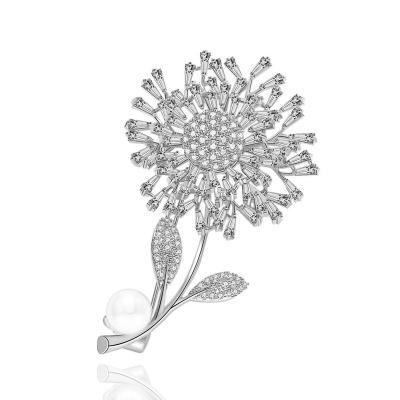 Brož Swarovski Elements Daisy  - design sedmikrásky