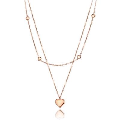 Ocelový náhrdelník Liana - chirurgická ocel, srdce