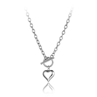 Ocelový náhrdelník Anna - chirurgická ocel, srdce