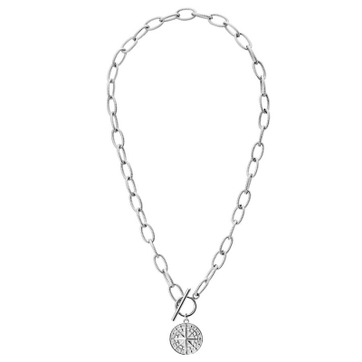 Ocelový náhrdelník Vanessa, chirurgická ocel, větrná růžice
