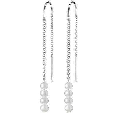 Stříbrné náušnice s řiční perlou Lueren, stříbro 925/1000