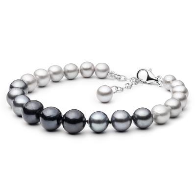 Perlový náramek Becky - sladkovodní perla, stříbro 925/1000