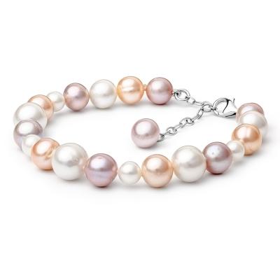 Perlový náramek Oscara - sladkovodní perla, stříbro 925/1000