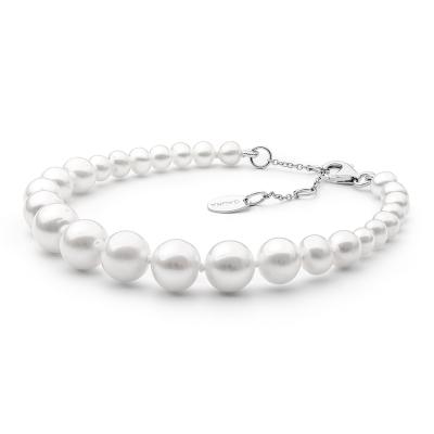 Perlový náramek Bianca - sladkovodní perla, stříbro 925/1000