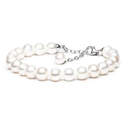 Perlový náramek Charlie - sladkovodní perla, stříbro 925/1000