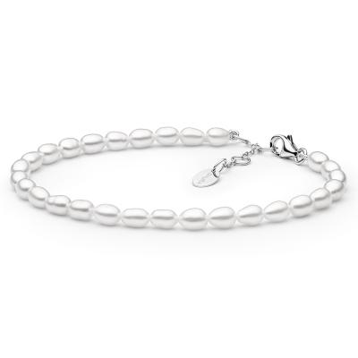 Perlový náramek Bethan - sladkovodní perla, stříbro 925/1000