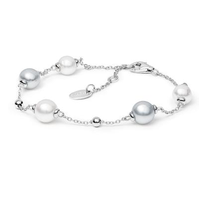 Perlový náramek Marcia Grey - sladkovodní perla, stříbro 925/1000