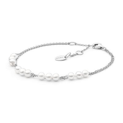 Perlový náramek Napolia - sladkovodní perla, stříbro 925/1000