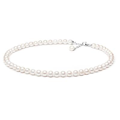 Perlový náhrdelník Charlie - sladkovodní perla, stříbro 925/1000