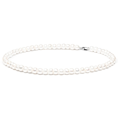 Perlový náhrdelník Scutesa - sladkovodní perla, stříbro 925/1000