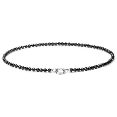 Korálkový náhrdelník Bionda - přírodní Onyx, stříbro 925/1000