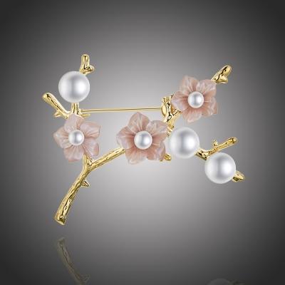 Brož s perlou Donetta Samantha