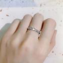 Pozlacený prsten Agnelli s 3ct čirým zirkonem