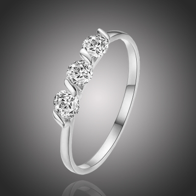 Pozlacený prsten  se zirkony Sebastiani