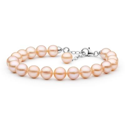 Perlový náramek Lily - řiční perla, stříbro 925/1000