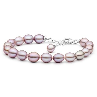 Perlový náramek Sasha - řiční perla, stříbro 925/1000