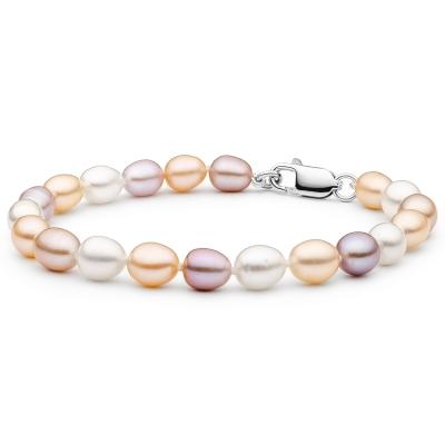 Perlový náramek Jenny - řiční perla, stříbro 925/1000