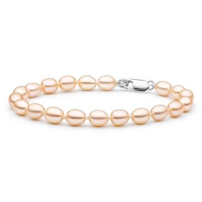 Perlový náramek Katy - řiční perla, stříbro 925/1000