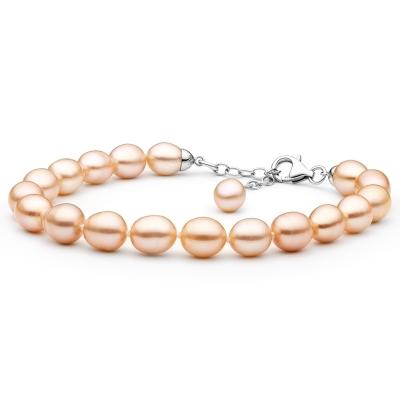 Perlový náramek Robie - řiční perla, stříbro 925/1000