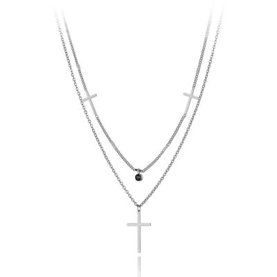 Ocelový náhrdelník Anna Maria - chirurgická ocel, kříž