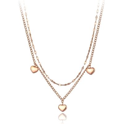 Ocelový náhrdelník Manila - chirurgická ocel, srdce