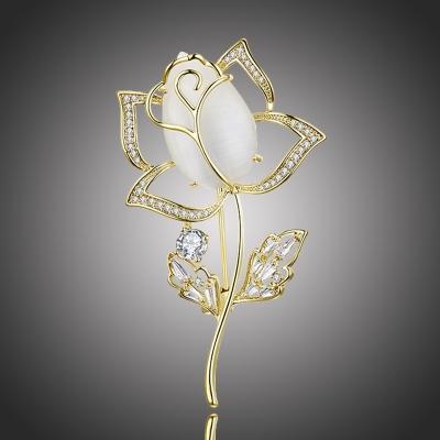 Brož Swarovski Elements Catherina - květina